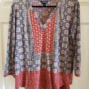GUC Lucky Brand peasant top L